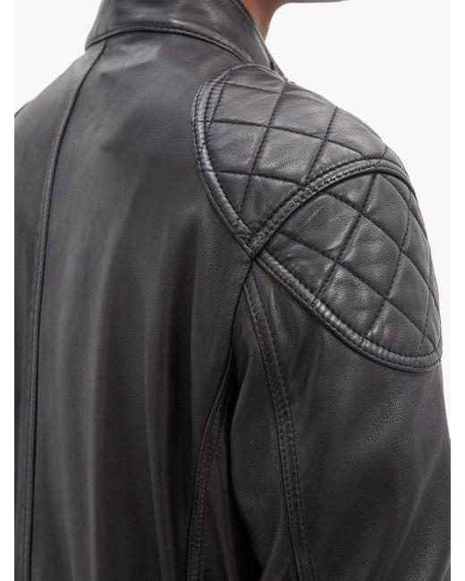メンズ Belstaff Fieldbrook 2.0 レザー フィールドジャケット Black