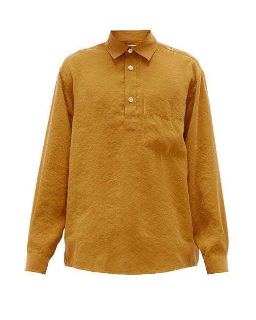 メンズ Schnayderman's パッチポケット クレープシャツ Multicolor