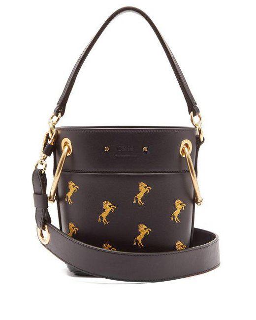 Faye mini Little Horses embroidered bag Chlo tZJmxusi