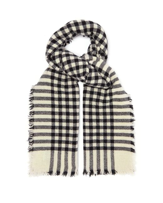 Begg & Co - Black Beaufort Washed Checked Scarf for Men - Lyst