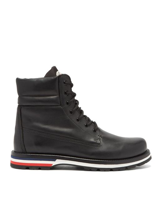 Moncler Black Vancouver Leather Boots for men