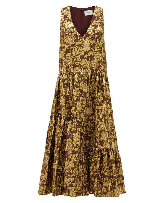 Erdem ミモザ フローラルジャカードドレス Multicolor