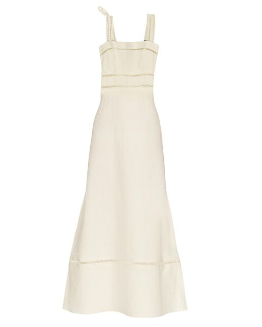 Isabel Marant | Natural Regin Cotton and Linen-Blend Dress | Lyst