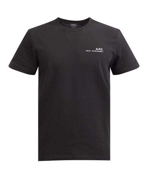 メンズ A.P.C. コットンtシャツ Black