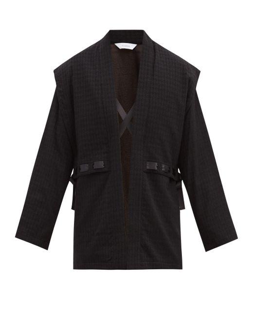 Veste en laine mélangée à motif pied-de-poule Sasquatchfabrix pour homme en coloris Black