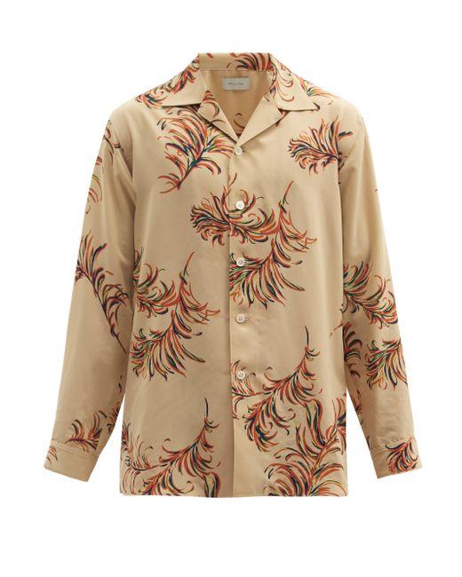 メンズ Bed J.w. Ford フェザー キューバンカラー ツイルシャツ Multicolor