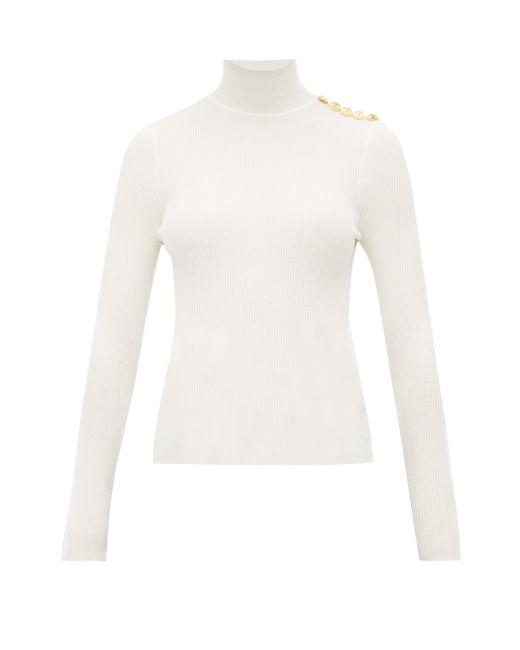 Alexandre Vauthier ボタンハイネック ウールブレンドセーター Multicolor