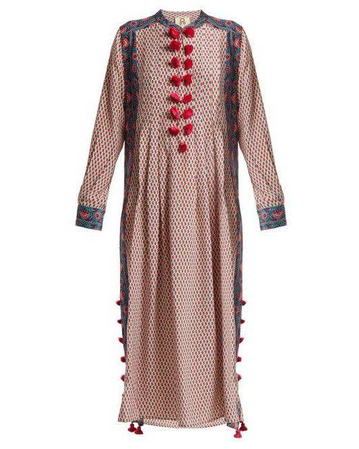 Rumi floral-print silk kaftan Figue sQ7yLz