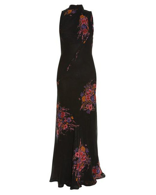 Cheap Low Price High-neck sleeveless floral-print gown Etro Buy Cheap Wholesale Price mwvJGWUY