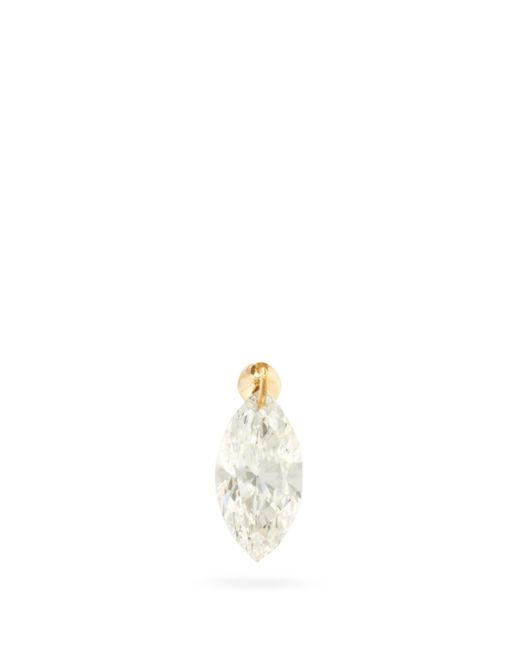 Maria Tash Metallic Floating Diamond & 18kt Gold Single Earring