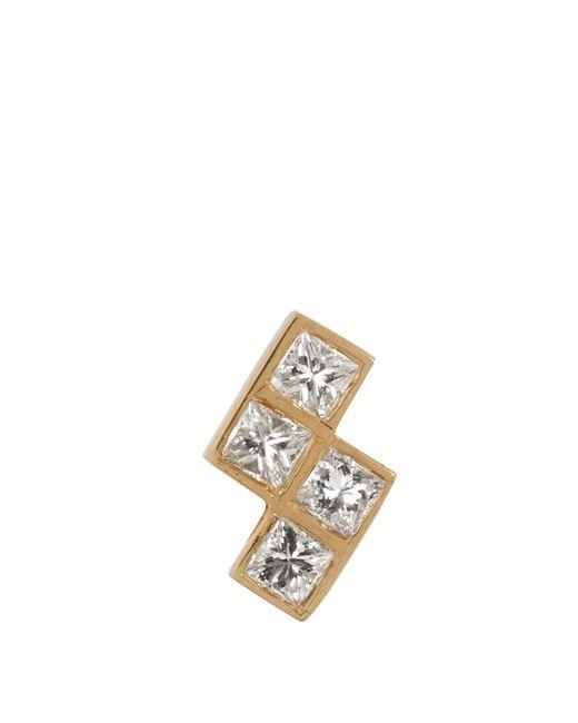 Ileana Makri | Multicolor Diamond & Yellow-gold Earring | Lyst