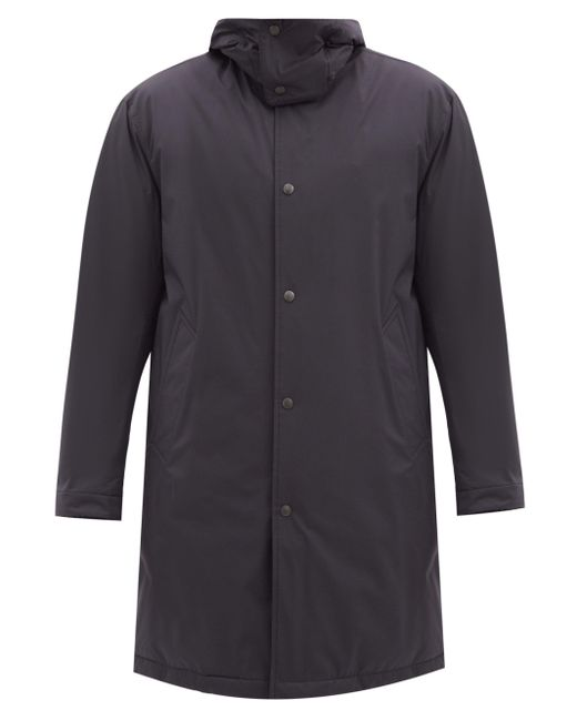 メンズ Moncler ハイネック フーデッドパデッドコート Multicolor