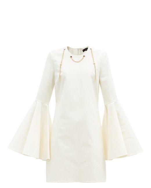 Ellery シャスタ チェーン コットンブレンドミニドレス White