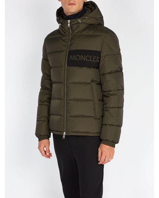 0d70485e44be ... Moncler - Green Aiton Quilted Down Jacket for Men - Lyst ...