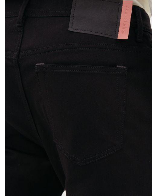 Jean slim en coton mélangé River Acne pour homme en coloris Black