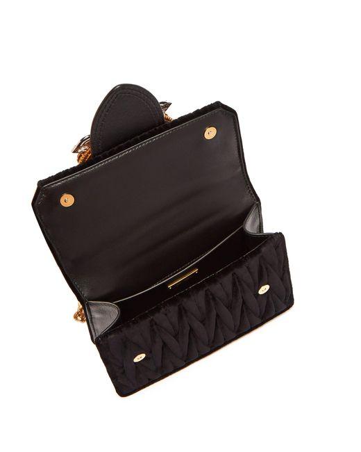 c3bf01abe3a4 Miu Miu Lady Velvet Crossbody Bag in Black - Save 32.82051282051282 ...