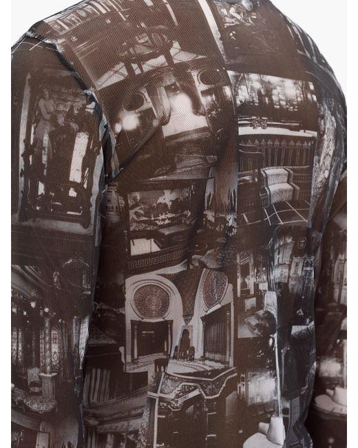 メンズ Y. Project プリント シアーメッシュ ロングスリーブtシャツ Multicolor