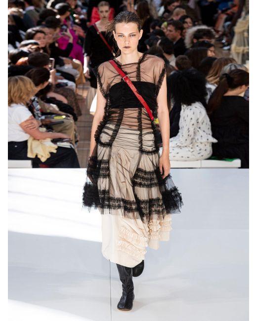 Molly Goddard ジュリエット フリルトリム コットンキャンバススカート Natural