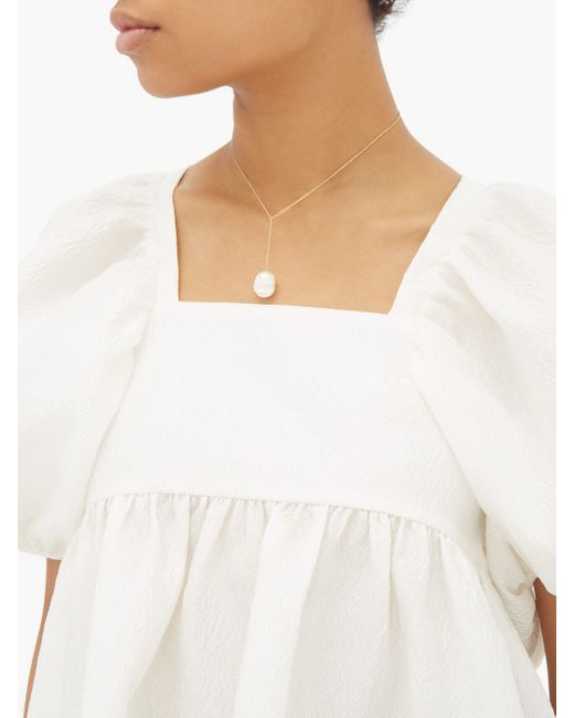Sophie Bille Brahe シレン パール 14kゴールドネックレス White