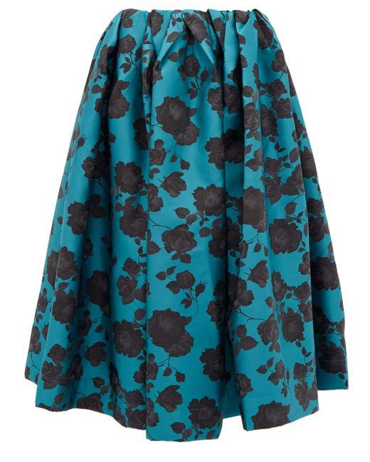 Marques'Almeida フローラルブロケード スカート Blue