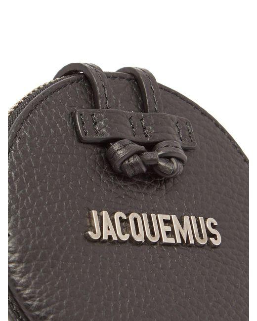 4dd7fd4c4f0 Le Pitchou Leather Necklace Bag Black--Black Mens