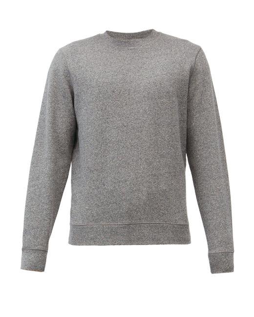 メンズ Sunspel クルーネック コットンループバックスウェットシャツ Gray