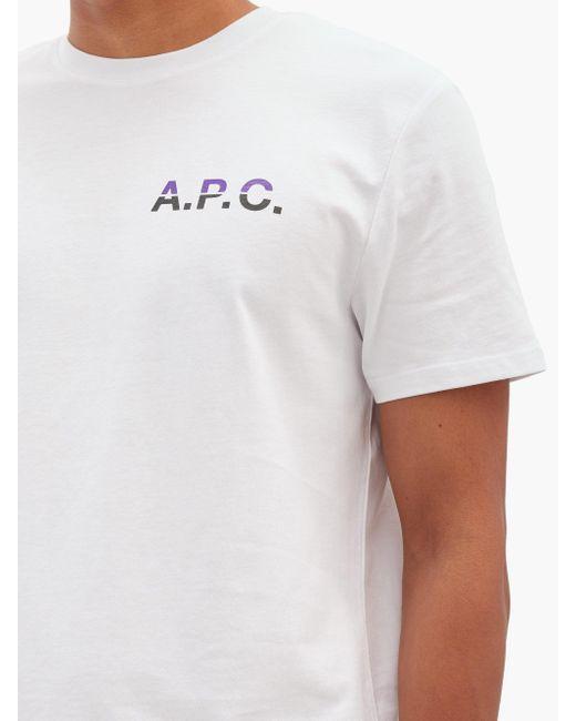 メンズ A.P.C. デヴィッド コットンtシャツ White