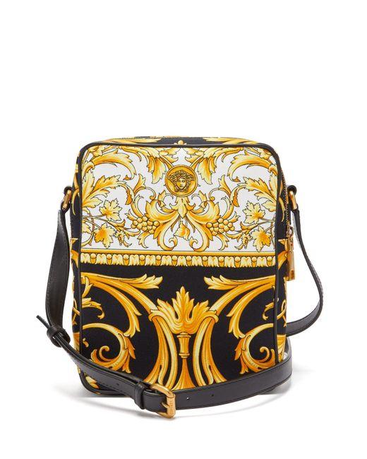 メンズ Versace バロック キャンバスバッグ Multicolor