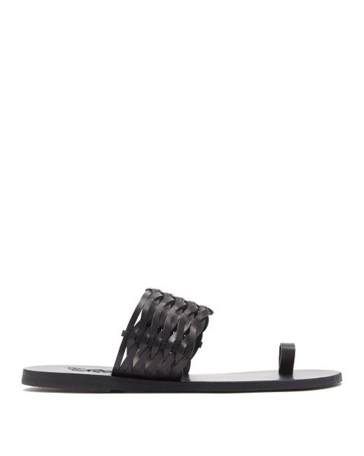 Ancient Greek Sandals タリア レザーサンダル Black