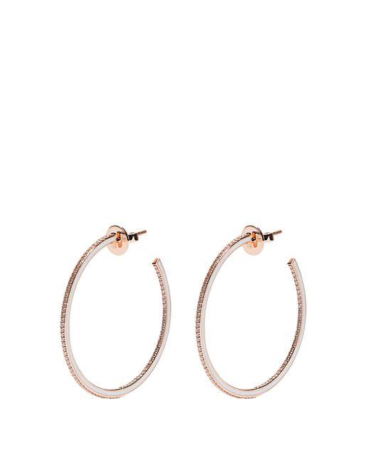 Raphaele Canot | Metallic Skinny Deco Diamond, Enamel & Pink-gold Earrings | Lyst