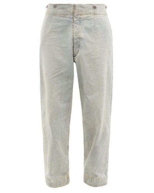 メンズ Maison Margiela ストーンウォッシュ ストライプ リラックスジーンズ Gray