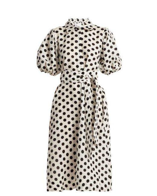 Polka-dot linen shirtdress Lisa Marie Fernandez Fashion Style Huge Surprise Shopping Online Clearance j7jBkM