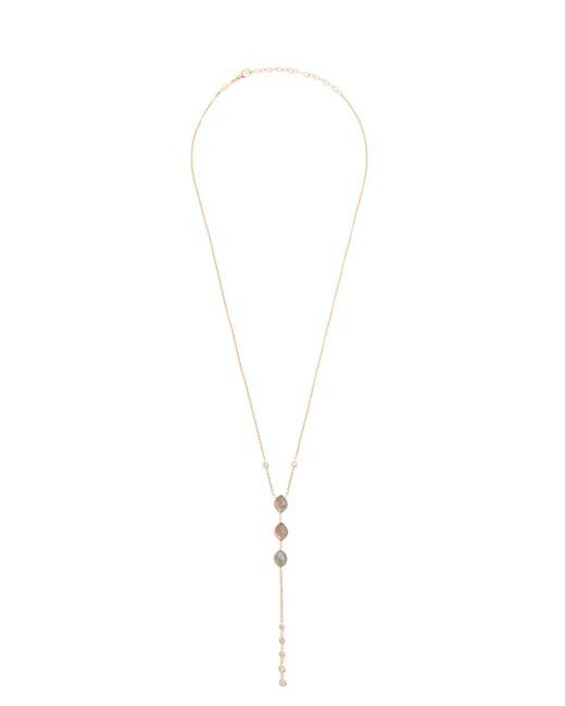 Jacquie Aiche | Metallic Diamond, Labradorite & Rose-gold Necklace | Lyst