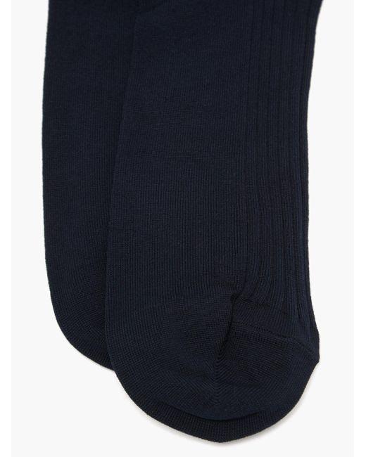 メンズ London Sock Company シンプリー サルトリアル コットンブレンドソックス Blue