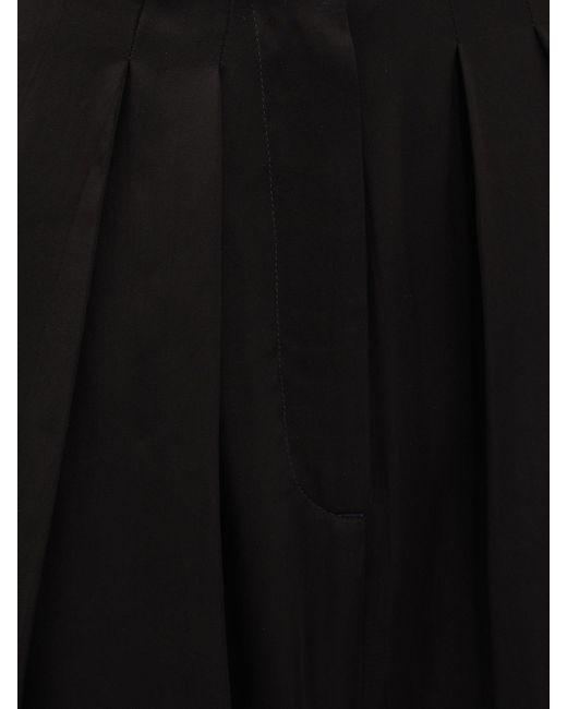 Rochas クレープワイドパンツ Black
