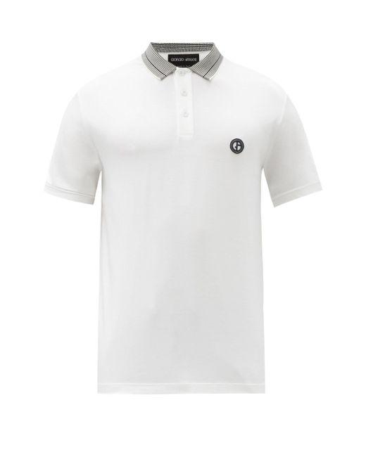 メンズ Giorgio Armani ポロシャツ White