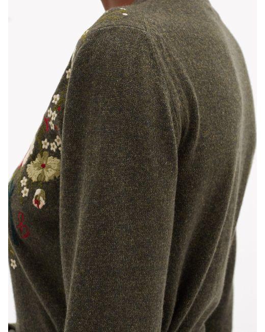 Brock Collection ラモ フローラル ウールカシミアカーディガン Multicolor
