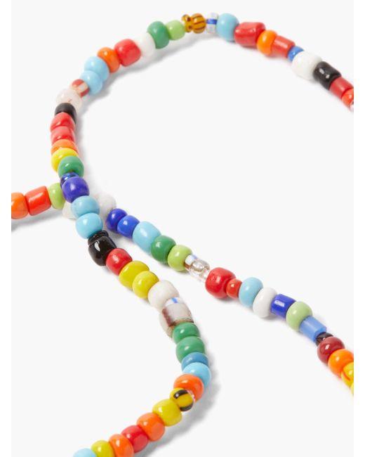 Diane Kordas シールド ダイヤモンド 14kローズゴールドビーズネックレス Multicolor
