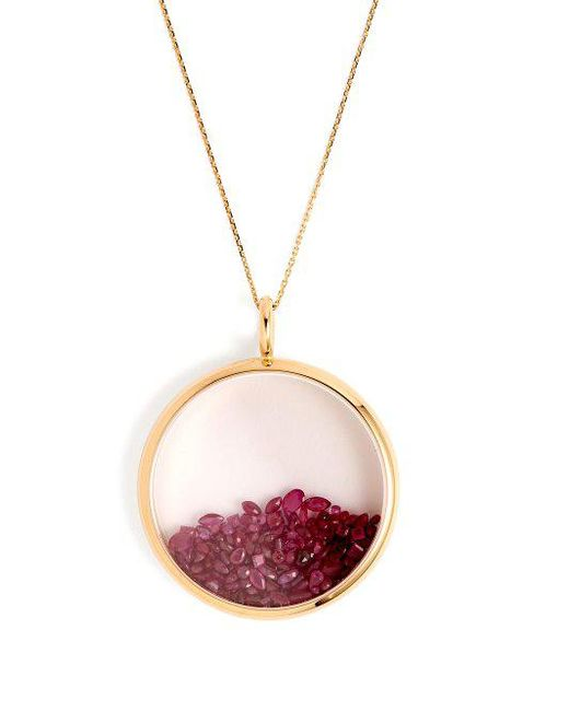Aurélie Bidermann Chivor ruby & 18kt gold necklace pde5RAxa