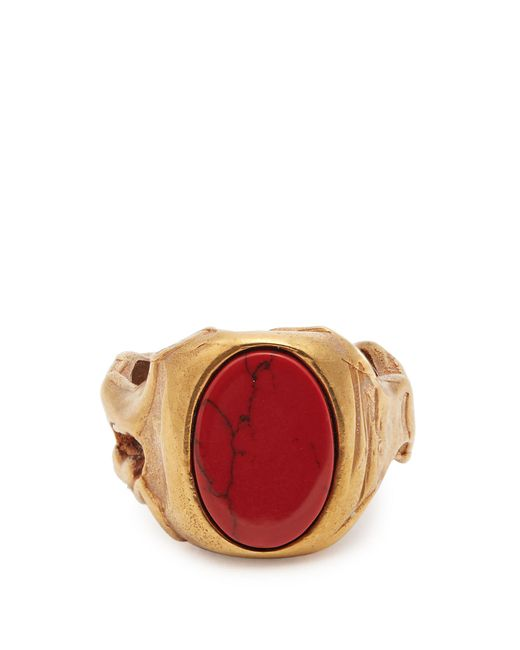 Valentino   Multicolor Stone-embellished Signet Ring   Lyst