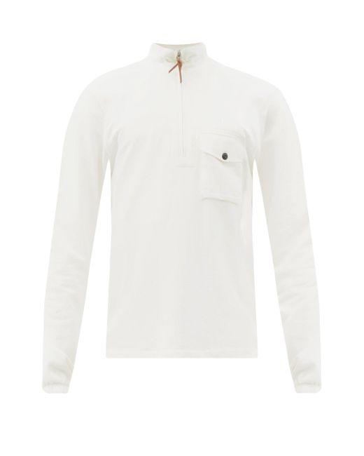 メンズ Albam タクティカル コットンスウェットシャツ White