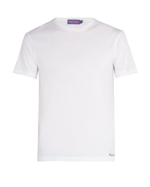 Ralph Lauren Purple Label - White Cotton T-shirt for Men - Lyst