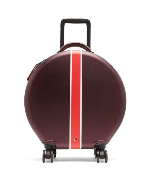 OOKONN Multicolor Front Stripe Circular Cabin Suitcase
