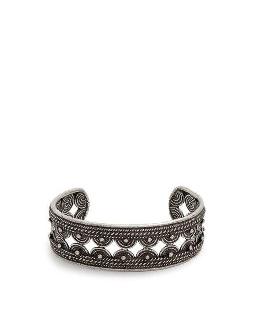 Saint Laurent - Metallic Razor-blade Bracelet for Men - Lyst