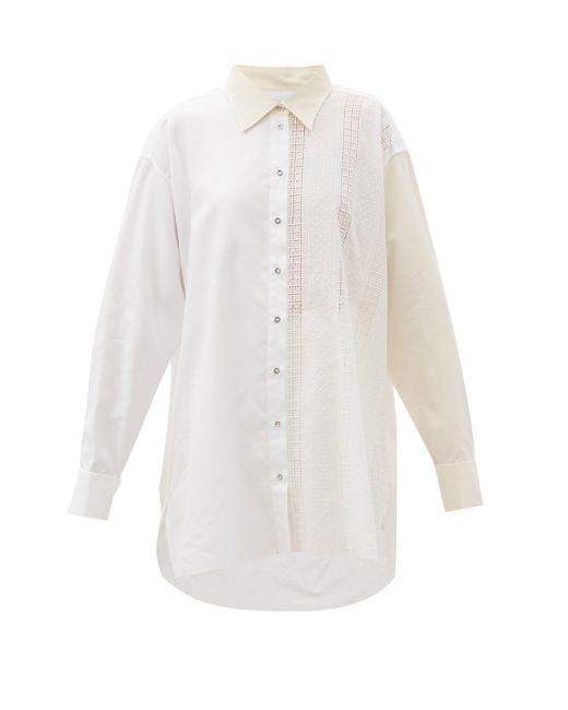 Marques'Almeida オーバーサイズ パネル アップサイクルコットンシャツ White