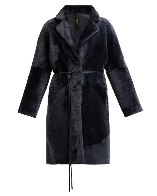 Giani Firenze - Blue Andrea Reversible Shearling Coat - Lyst