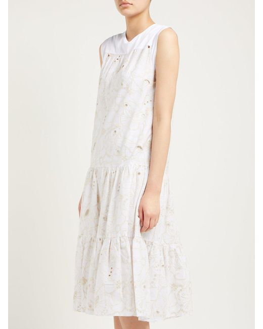83922db453 Lyst - See By Chloé Tiered Summer Dress in White - Save 7%