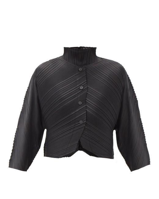 Pleats Please Issey Miyake ミュージカルスコア テクニカルプリーツジャケット Black