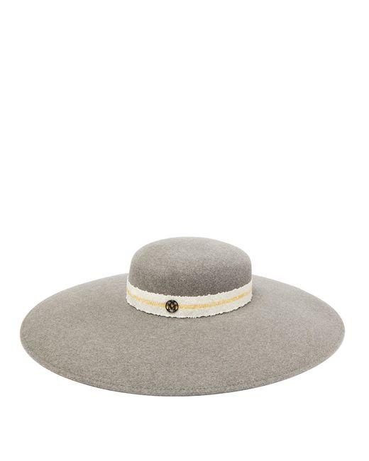 Chapeau en feutre à bord large Bianca Maison Michel en coloris Gray