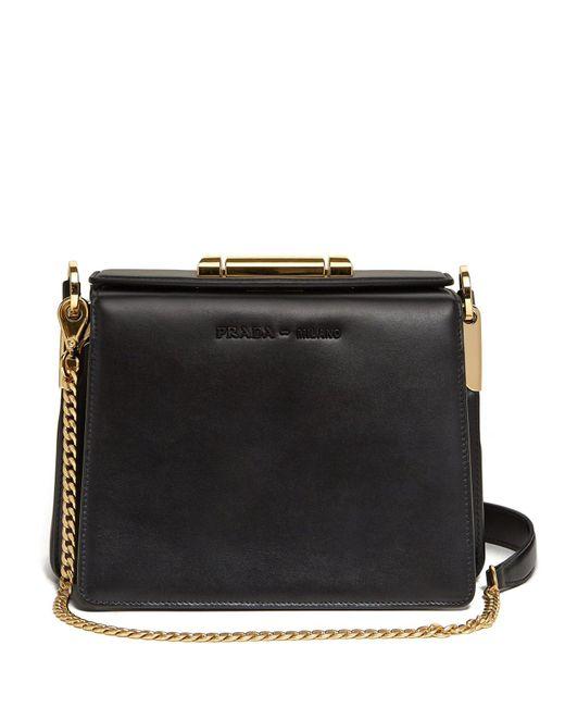 87fb85b0c78dd2 Prada - Black Sybille Leather Cross Body Bag - Lyst ...